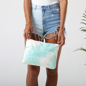 mid tropical fan palms pouch