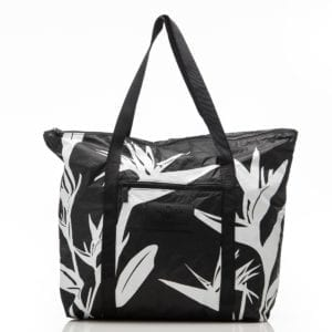 bird in paradise zipper tote