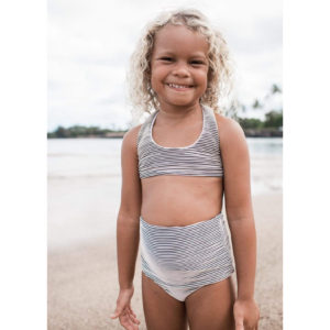 girls ivory ribbed set